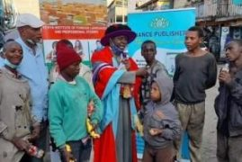 Lecturer Celebrates Graduation With Nairobi Street Children [PHOTOS]