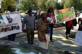 THE OCTOBER 19,2017 HISTORICAL MASHUJAA MARCH KENYAN EMBASSY IN WASHINGTON DC, USA:
