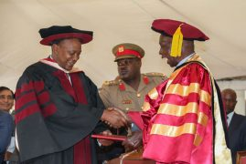 President Uhuru, Moi and Biwott in meeting at State House