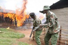 Gloom as over 250 houses burnt and 500 families displaced on Christmas