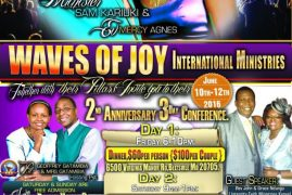 WAVES OF JOY ANNIVERSARY AND CONFERENCE,JUNE 10TH-12TH 2016