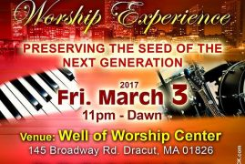 "Mega Kesha & Worship Experience ""Preserving the seed of the next generation"" @ WELL OF WORSHIP CENTER, Dracut, MA"